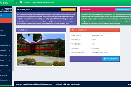 Aplikasi MPD SMK v.2017 (Manajemen Penilaian Digital SMK)