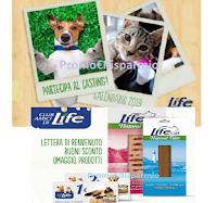 Logo Club Amici di Life: ricevi gratis il Calendario 2019 (magari con la foto del tuo pet) e gratis il Welcome Kit