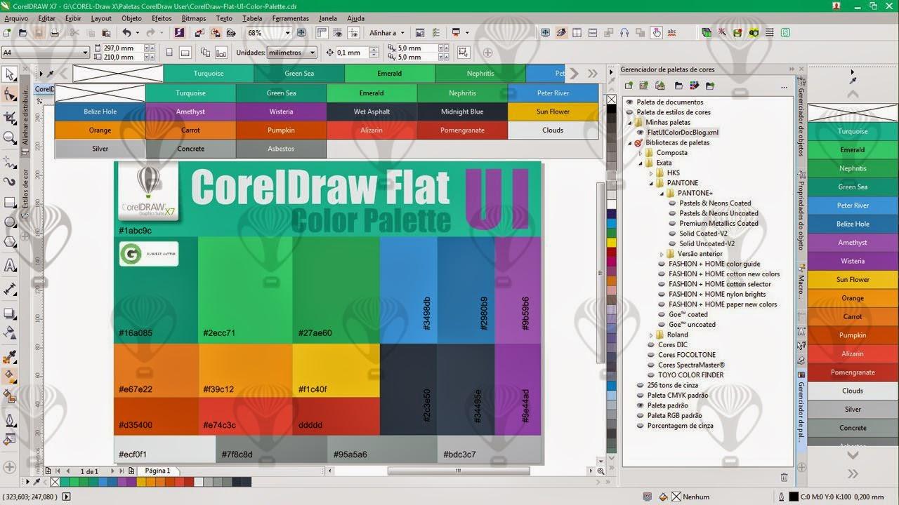 CorelDraw Flat UI-Color Palette | FREE DOWNLOAD