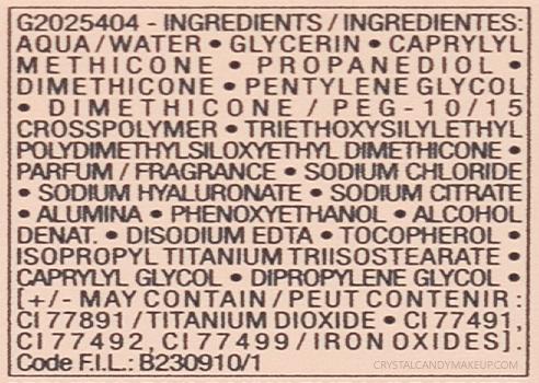 Fond teint hydratant frais Minéralblend Vichy Composition