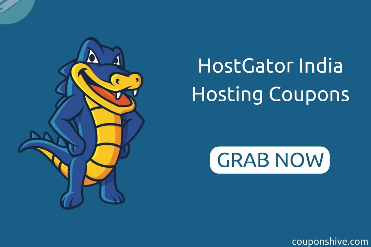 HostGator India Coupon Codes | Get Upto 50% OFF on Hosting