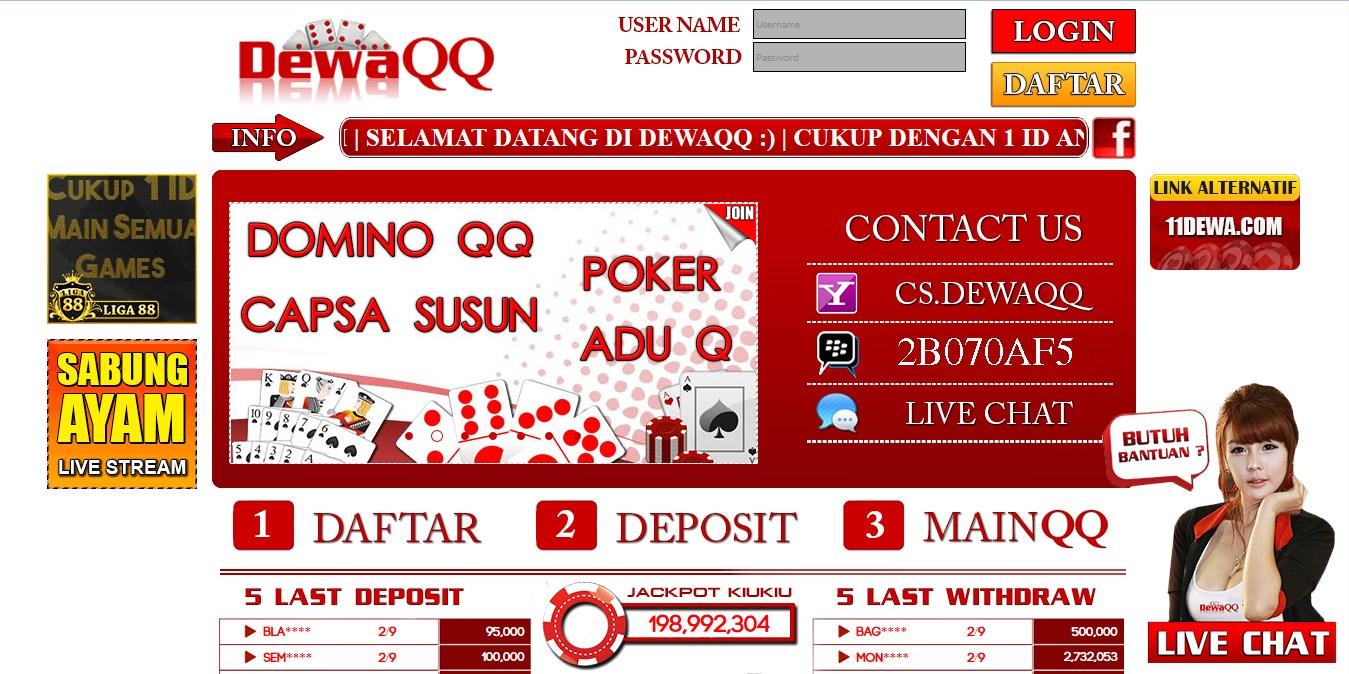Dewaqq Agen Judi Poker Online Terpercaya Link Alternatif