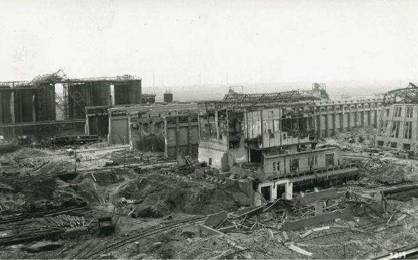 Destruição silo explosão oppau