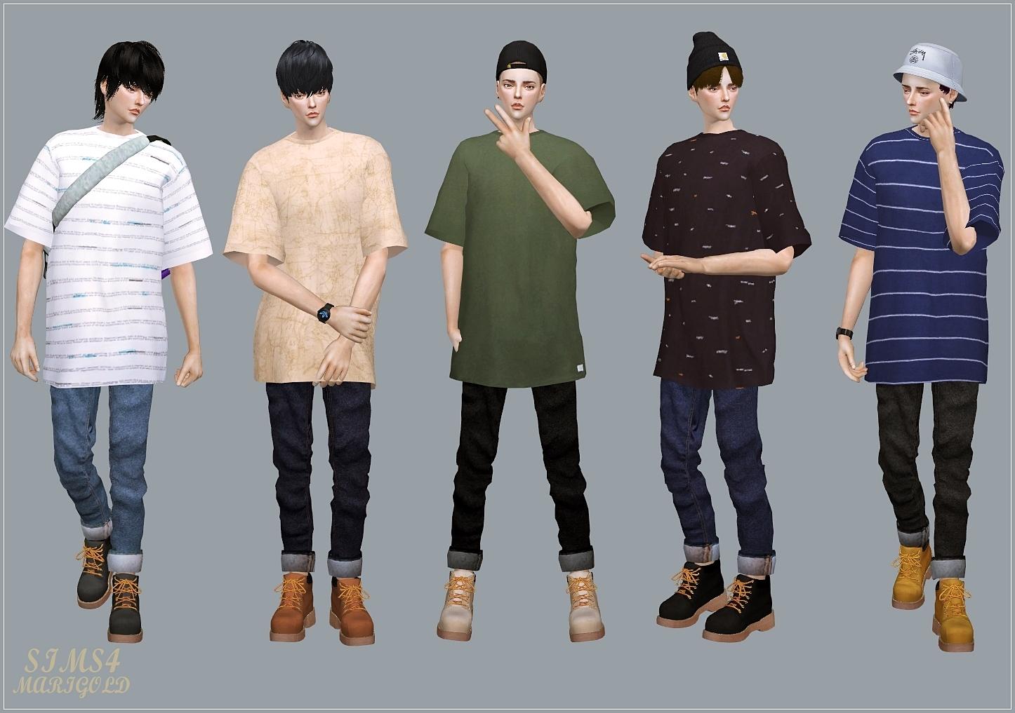 Sims 4 Male Blouse   RLDM