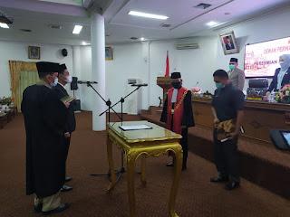 DPRD Kabupaten Batanghari Gelar Rapat Peresmian Pengucapan Sumpah Janji Wakil Ketua I Yang Digantikan Oleh M Jaafar