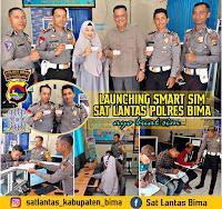 Lantas Polres Bima Launching Pelayanan SMART SIM