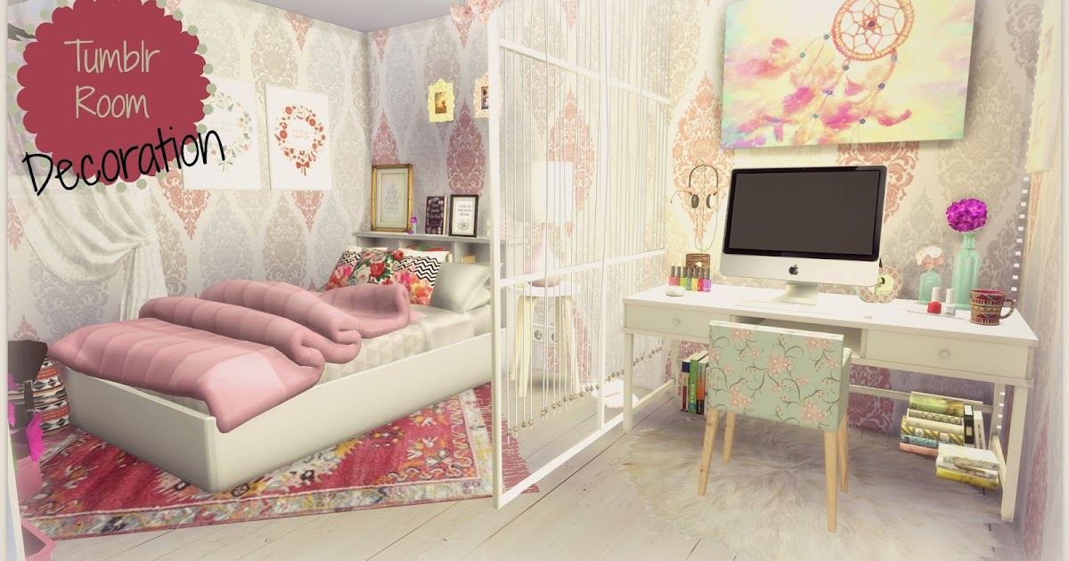 Sims 4 tumblr room dinha for Sims 4 bedroom ideas