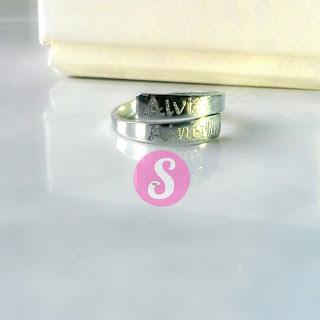 cincin nama monel silver grafir - alvi