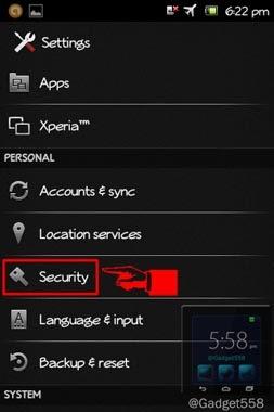 Setting keamanan Android
