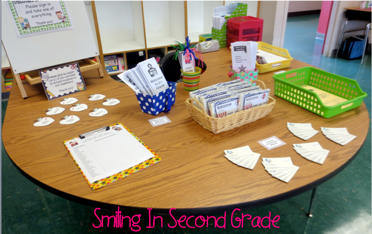 Smiling In Second Grade Open House