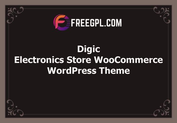 Digic – Electronics Store WooCommerce Theme Free Download