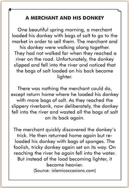 cerita bahasa inggris tentang pedagang