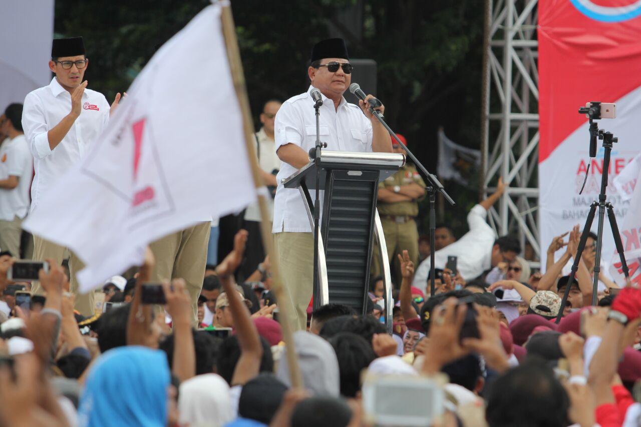 Kritik Pedas Prabowo Pada Media yang Tak Proporsional Beritakan Reuni 212