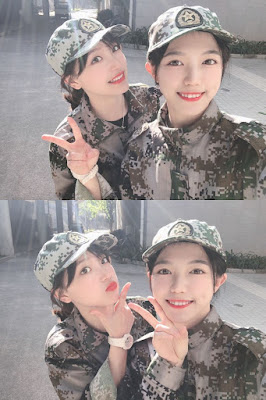 Xie LeiLei and Yi JiaAi completes military service