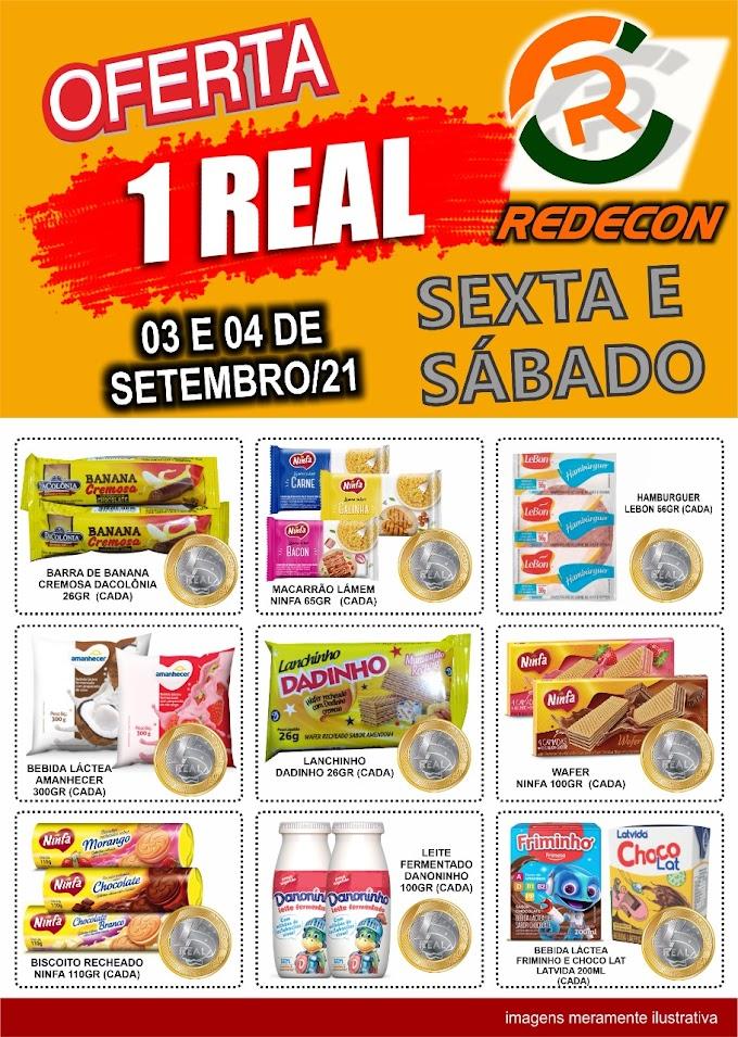 Ofertas da REDECON para sexta e sábado - 03 e 04/09