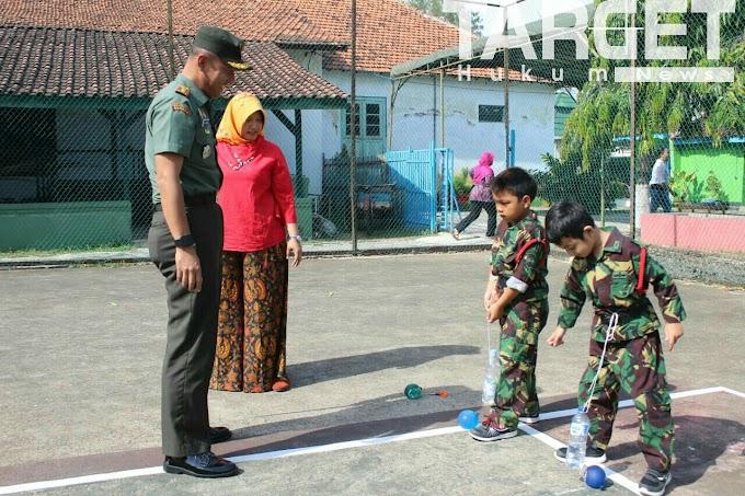 Keceriaan Murid Murid TK Kartika Dalam Menyambut HUT Ke 73 TNI