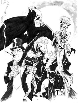 Batman and Foes by Neil Volkes
