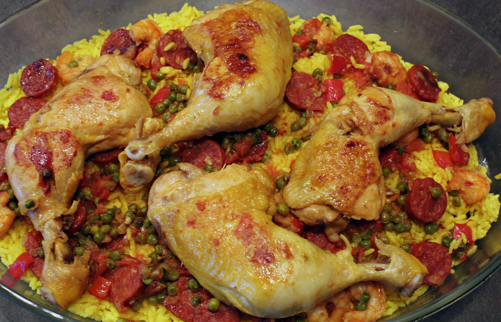 paella au chorizo et poulet cooking dodie. Black Bedroom Furniture Sets. Home Design Ideas