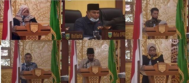Tes5 Fraksi DPRD Kota Padang Panjang Sampaikan Pemandangan Umum Tentang Perubahan APBD TA. 2020