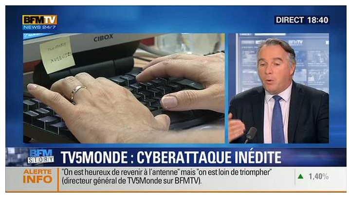 reveals own passwords in an interview, TV5Monde