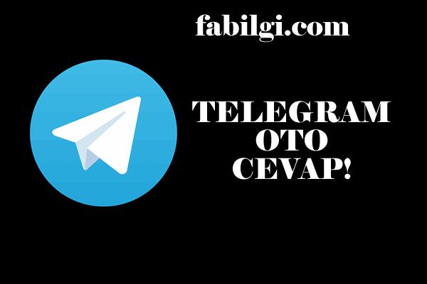 Telegram Mobil Otomatik Yanıt Mesaj Atma Botu Yapımı 2021