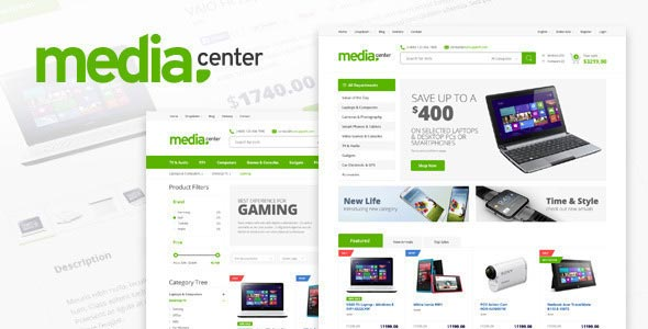 Free download MediaCenter – Responsive Opencart 2.x Template