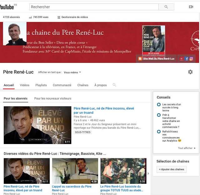 Chaine Youtube du Père  René-Luc
