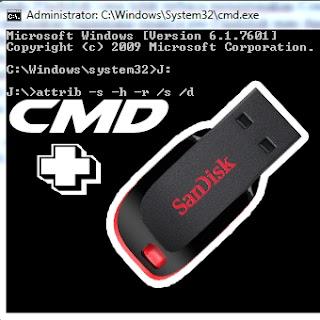 Cara Memperbaiki Flashdisk yang tidak terbaca menggunakan CMD