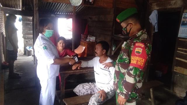 Kompak Dinas Terkait Dalam Pelaksanaan Operasi PPKM Skala Micro Melalui Koramil 09/Tiga Balata Jajaran Kodim 0207/Simalungun