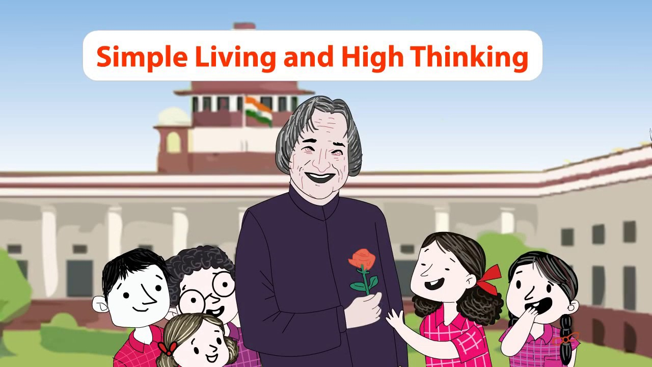 Simple living and high thinking | Apj abdul kalam story