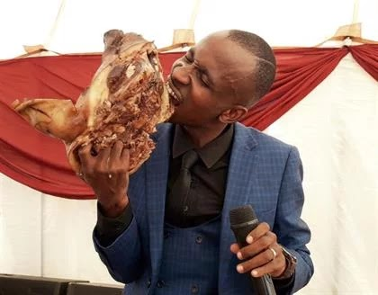 Yoh! Pastor serves His Congregation With Pig Skop