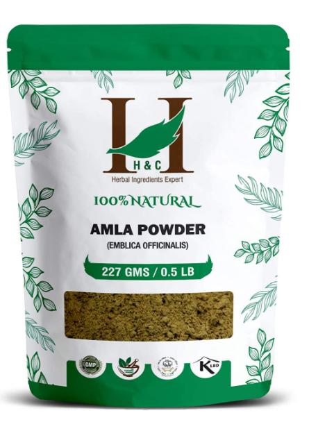 H&C Herbal Ingredients Expert 100% Natural Amla Powder (Emblica Officinalis) 227g / 0.5 LB / 08 oz - For Hair Care