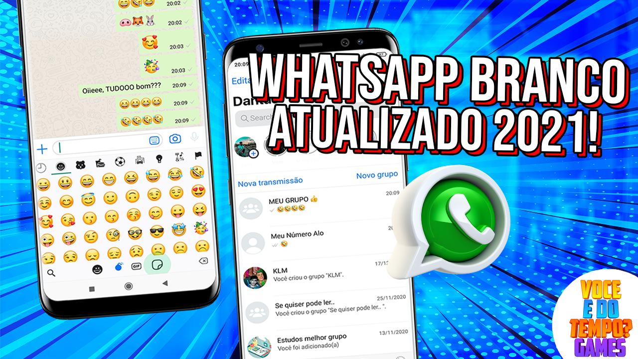 WhatsApp Branco Igual do Iphone Atualizado Janeiro de 2021 ...