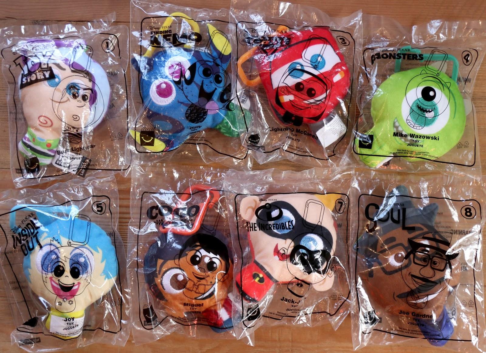 pixar plush keychain mcdonald's toys 2020
