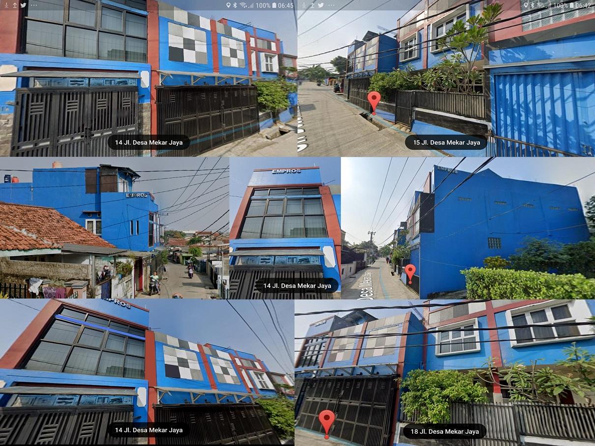 Hasil proyek Bangun ruko/Rukan EMPROS milik CV. Empros,di Jl.Mekarjaya no.14 dan 15, Mekarjaya, Ciomas, Bogor, Tahun 2016(foto via Google view street@2019)
