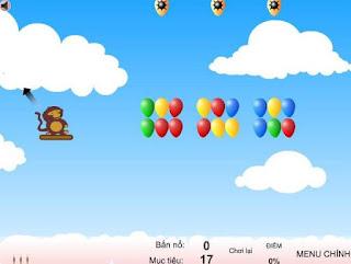 Game khỉ con bắn bóng 3