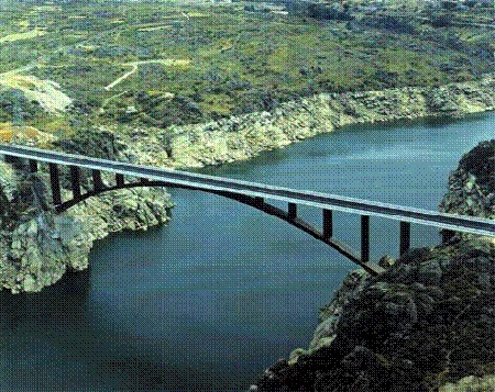 Puente de acero de sección simple Tablero Superior