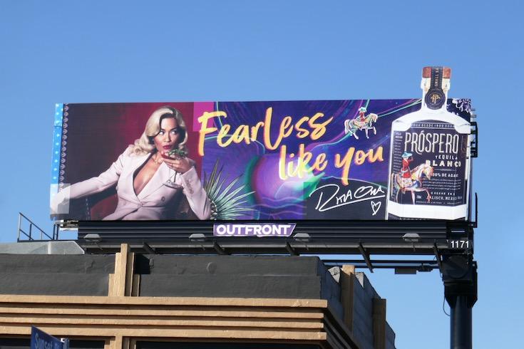 Prospero Tequila Rita Ora Fearless billboard