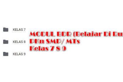 Modul BDR Bahasa Indonesia Kelas 7, 8, 9 SMP Semester 1