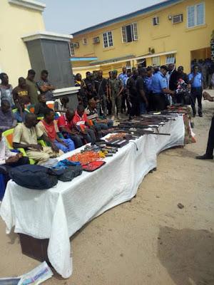 Photos: Police parade 30 deadly kidnappers, armed robbers terrorizing Okene-Lokoja-Kabba road