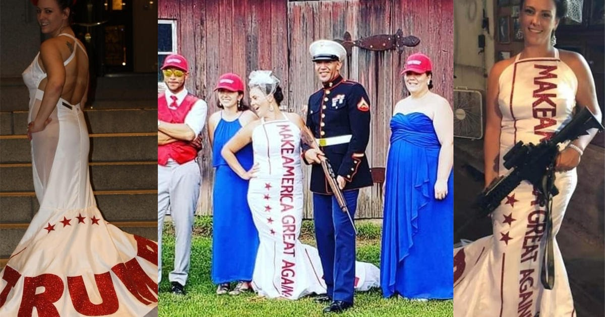 VIDEO Couple's MAGA-themed wedding pays tribute to President Trump.