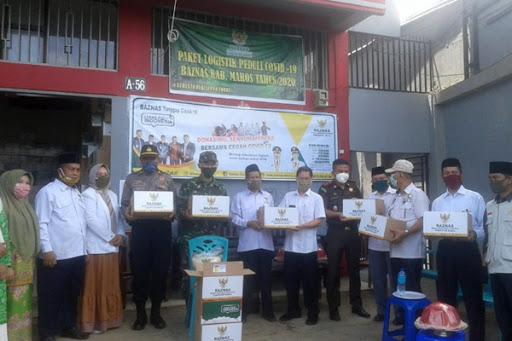 Baznas Tanggap Covid-19 Maros Sebar 4.000 Paket Logistik