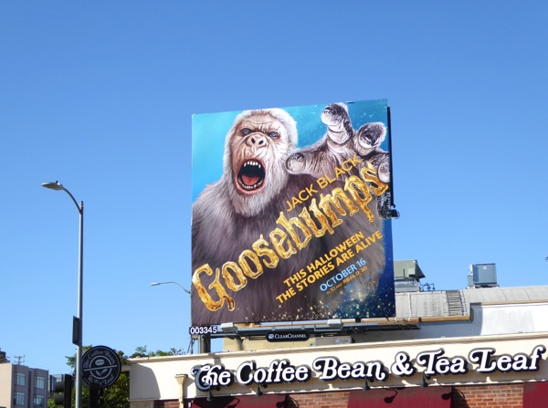 Goosebumps movie billboard