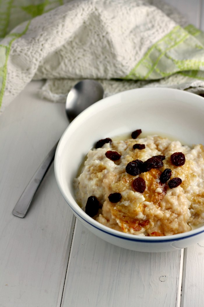 Slow Cooker Maple and Raisin Porridge