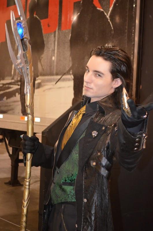 Thor's Loki cosplayer poses at at Wizard World Philadelphia 2014