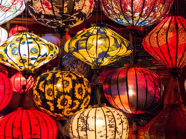 Lanterns at night in Hoi An Vietnam