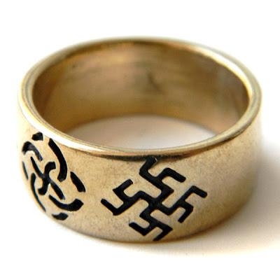 купить обручальные кольца славянские символы язычество бронза