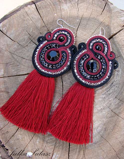 *Red Wine* Earrings