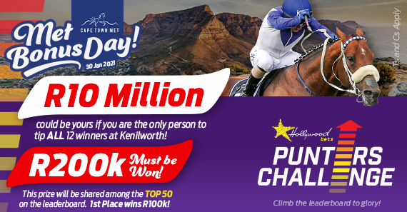 Hollywoodbets Punters' Challenge - Met Day