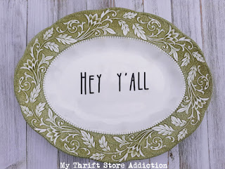 Repurposed Platter Welcome Sign
